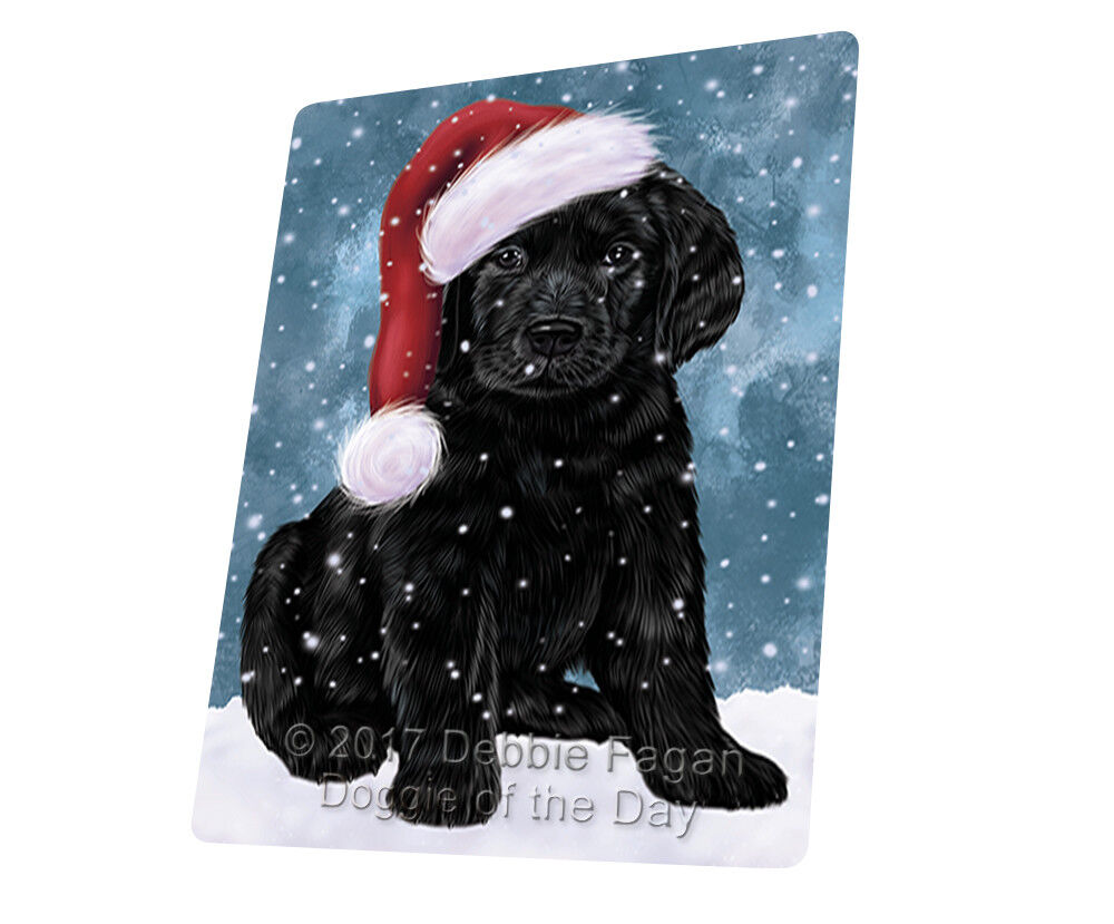 Let it Snow Christmas Holiday Labradores Dog Woven Throw Sherpa Blanket T99