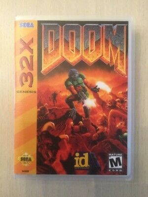 no Game! Universal Sega 32x Replacement Case Doom For Fast Shipping