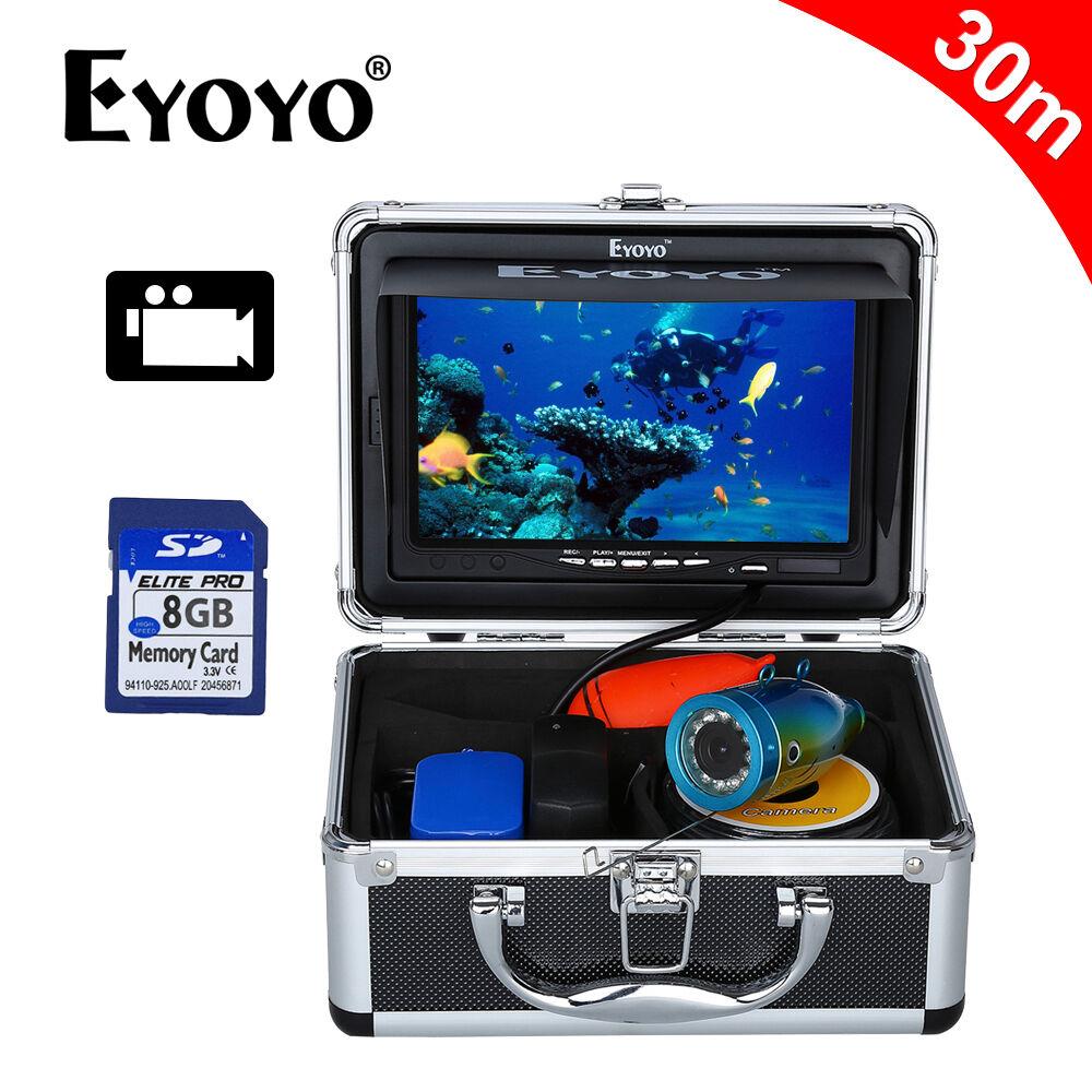 7 - zoll lcd 30m unterwasser videokamera dvr aufzeichnung fischfinder + ir licht