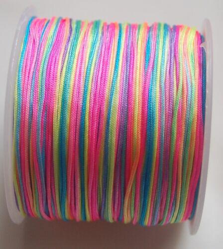 0,06€//m Nylonfaden 1mm 35m Shamballa Nylon thread Cord Nylonschnur Bastelfaden