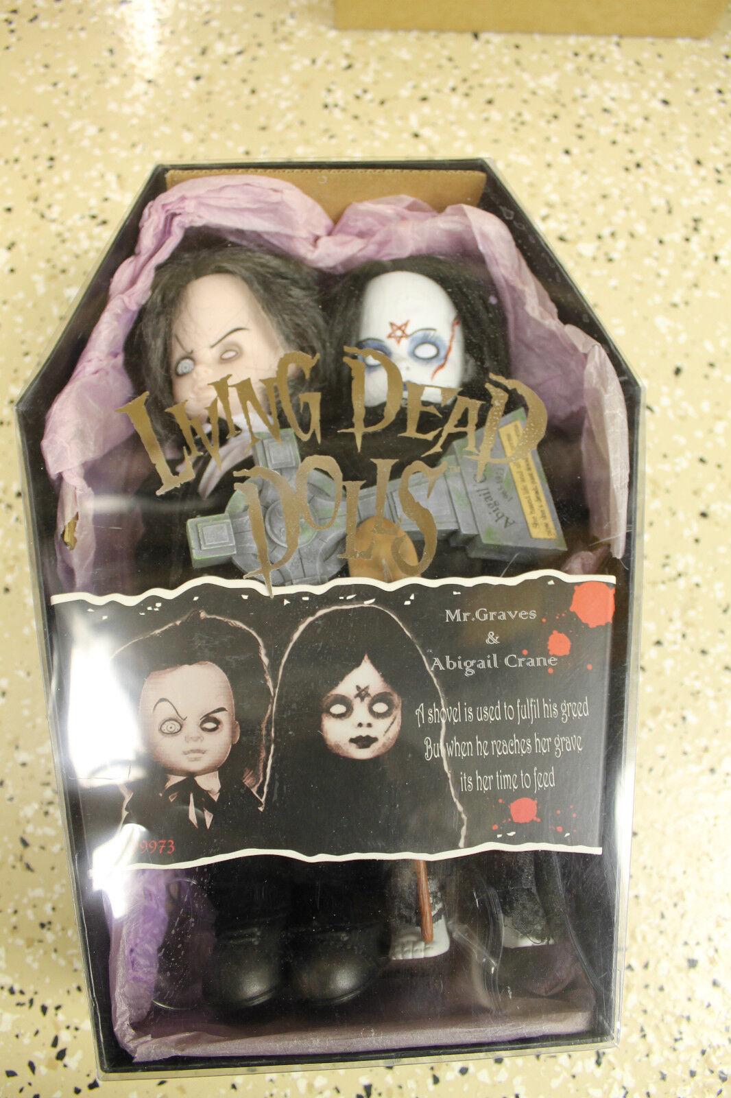 Mezco Living Dead Dolls  Mr. Graves and Abigail Crane  Figure Full Size