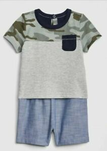 Details about  /NWT Baby Gap Boy gray hooded pocket romper SUMMER SPRING 3 6 TWINS