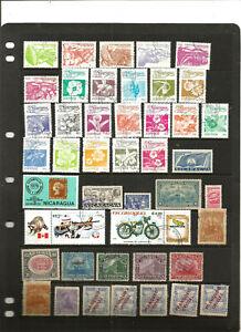 BEST TOP NEEWS :très beau lot de timbres NICARAGUA .2 scans .de belles séries