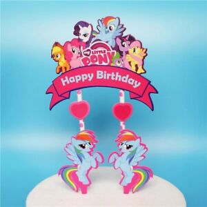 Astonishing My Little Pony Cake Toppers Party Supplies Lolly Loot Bag Food Personalised Birthday Cards Beptaeletsinfo
