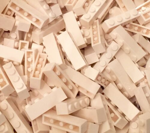 Standard Building Bricks Part With Four Studs X50 Pieces Lego White 1x4 Brick