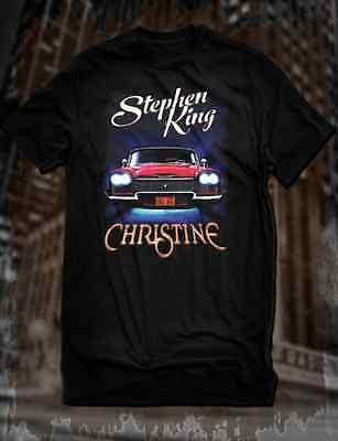 New Black Stephen King Christine T-Shirt Horror Novel Tee Supernatural Car