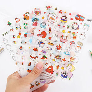 6pcs-Kawaii-Rabbit-Sticker-Kawaii-DIY-Scrapbook-Diary-Phone-Decoration-Sticker