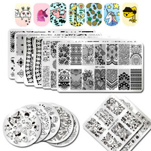 BORN-PRETTY-Nail-Art-Stamping-Plates-Geometry-Rose-Flower-Image-Plate-Template