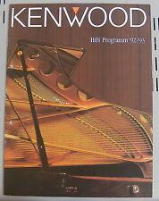 Kenwood Katalog Prospekt 92/93 L-1000M DP-7040 DA-9010 KD-8030 KX-9050 GE-1100