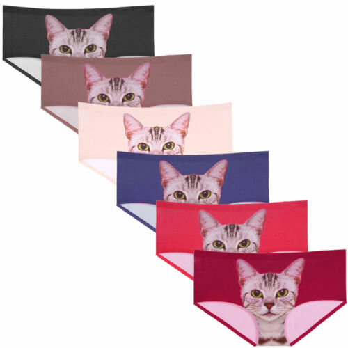 24 PCS Womens Kitty Cat Print Panties Lasercut Hipster WHOLESALE LOT $2.50//UNIT