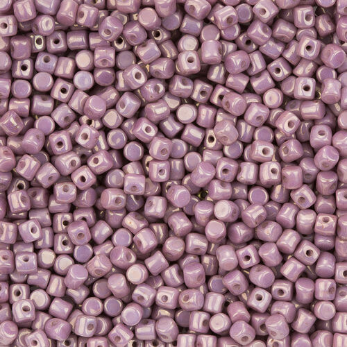 L99//4 Minos ® par Puca ® Checa Cuentas De Vidrio Opaco Violeta Mezcla de oro mirada de cerámica 9g