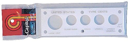 Capital Holder Plastic Case Capsule For US Type Cent Coins White Free Post New