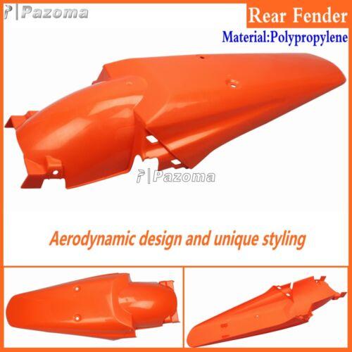 Motorcycle Orange Plastic Rear Fender Mudguard Cover For Honda Suzuki Yamaha KTM