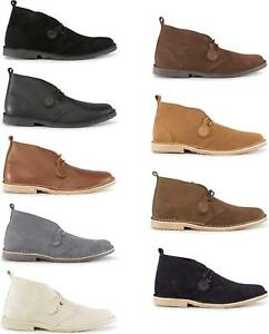 Popps-ORIGINAL-Unisex-Mens-Womens-Ladies-Suede-Leather-Casual-Lace-Desert-Boots