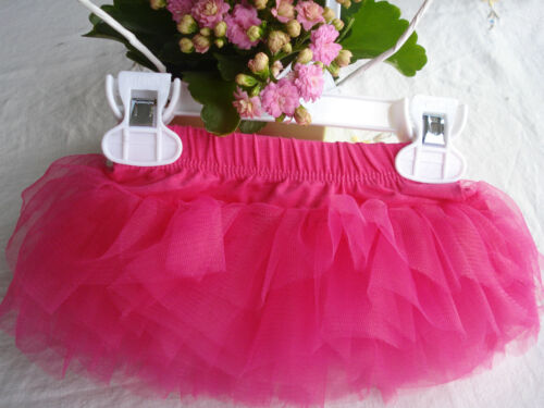Baby girl party hot pink fuchsia 6 couches tulle tutu jupe photo props 0-6-12-24