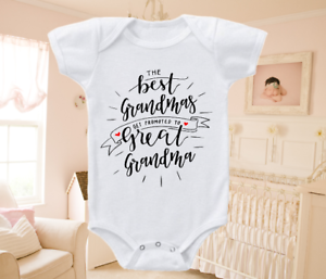 Pregnancy Announcement Reveal Onesie Bodysuit Shirt Great Grandma 0-3 months