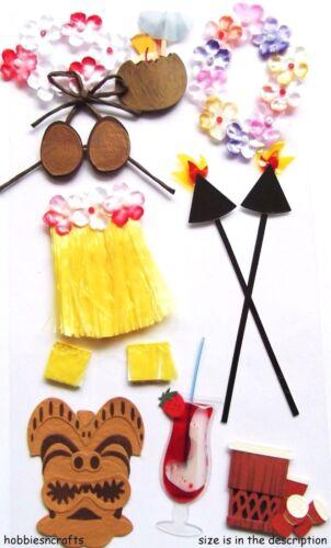 Ek éxito Jolee/'s Boutique En 3d Stickers-Vacaciones Falda Hawaii-Luau