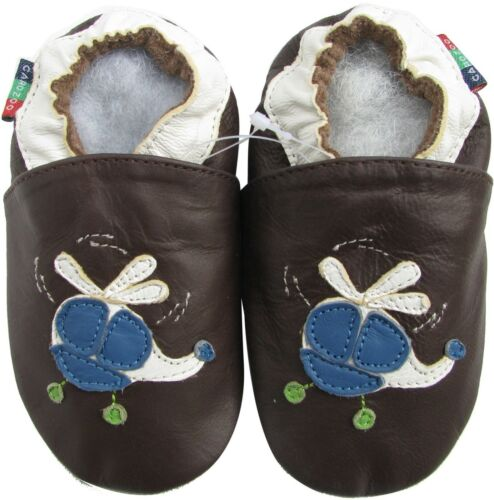 shoeszoo helicopter dark brown 18-24m S soft leather baby shoes