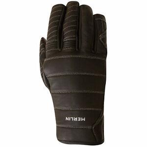 Merlin Boulder Motorcycle Gloves Black / Red Medium