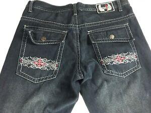 Nostic-Jeans-Mens-39-Dark-Wash-Denim-Cross-Straight-Leg-Baggy-41-x-35-Actual