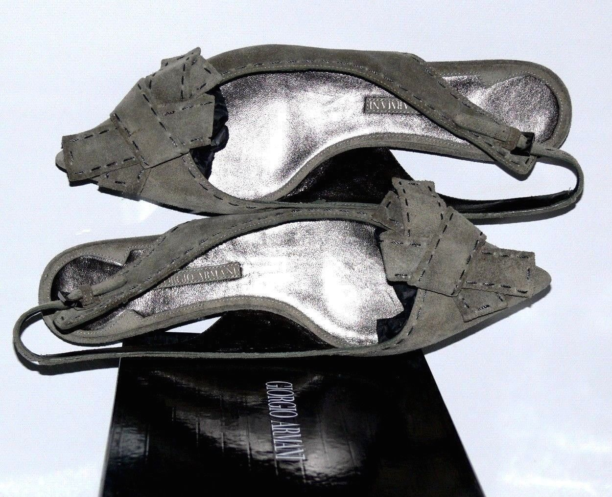 Nuevo pago de 550,00    Giorgio Armani calzado de terciopelo italiano SZ US 6,5   36,5