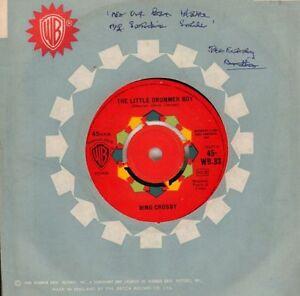 Bing-Crosby-7-034-Vinilo-deseo-una-feliz-Navidad-The-Little-Drummer-B-en-muy-buena-condicion-en-muy