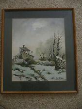 Original Watercolour Hipolito (Honore?)  Landscape with cottage