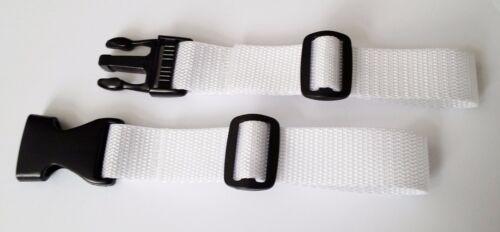 Brustgurt für Schulranzen 25 mm Breit Rucksack Ersatzgurt Top weiß