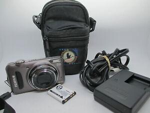 NEW-Fuji-Finepix-T210-14-0-MP-Digital-Camera-Gunmetal-with-Case