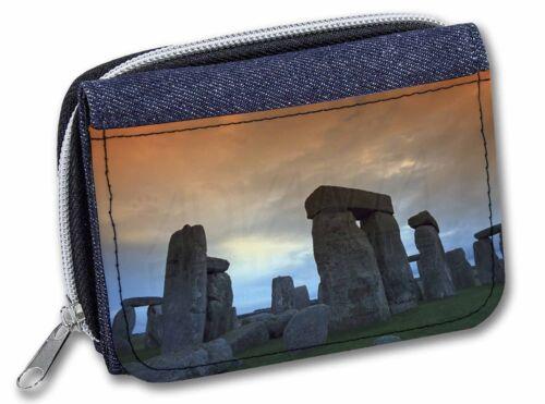 PLA-SH1JW Stonehenge Solstice Sunset Girls//Ladies Denim Purse Wallet Christmas