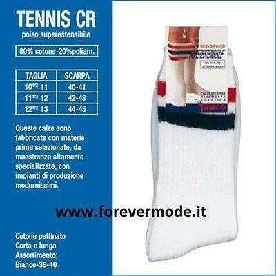 Tennis CR Corto Calzini sportivi da uomo in spugna di Prisco elastici Art
