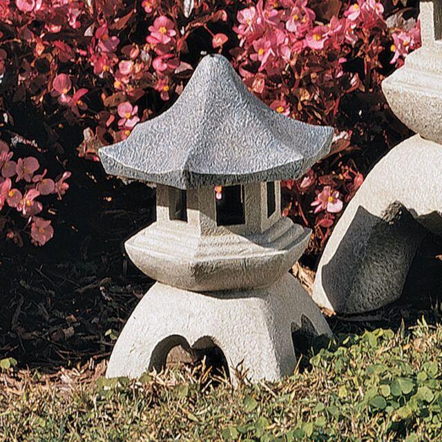 Attirant Pagoda Asian Lantern Garden Decor Home Outdoor Sculpture Medium Lawn Statue  New