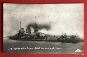 Kaiserliche-Marine-Foto-AK-1-WK-S-M-S-Seydlitz-nach-der-Skagerrack-66346