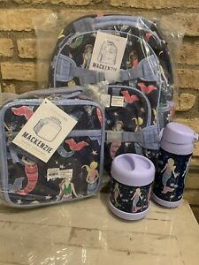 Pottery Barn Kids Navy Mermaid Large Backpack Lunchbox