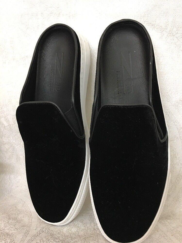 Zcd Montreal Shoe Black Velvet Slip On Slide Size 39 New