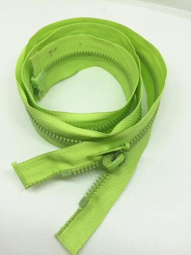 "NEW 2pcs GREEN RESIN ZIP ZIPS ZIPEER ZIPPERS 27.5/"" 70CM for Clothing or bag #"