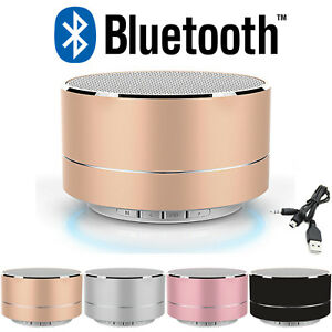 WIRELESS MINI BLUETOOTH PORTABLE SPEAKER SUPER BASS LED FOR IPHONE IPAD PHONES
