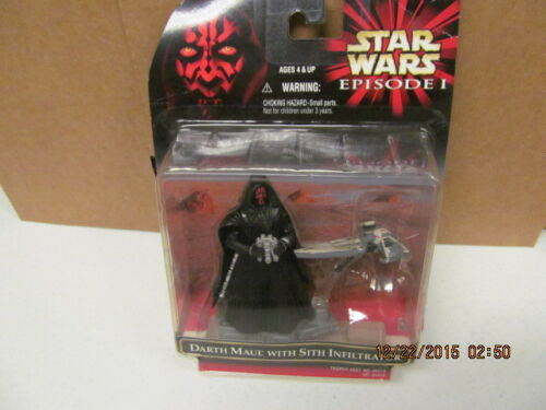 1999 Hasbro Star Wars Episode 1 Darth Maul with Stith Infiltrator
