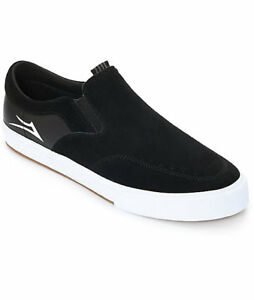 e6a33870902 Lakai - Owen VLK - Slip On Black   White Suede Skate Shoes  65