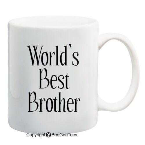 Hap Beegeetees World/'s Best Brother Coffee Or Tea Cup 11 Or 15 Oz White Mug
