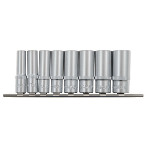 Laser Socket 8 pc Set profonde AF 3//8 7//16 1//2 9//16 5//8 11//16 3//4 13//16 pouces Drive