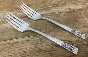2 Salad Forks Coronation Silverplate Silver Plate 1936 Community ...
