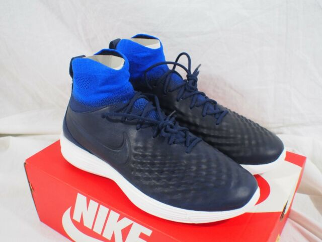 check out 83f26 29cb1 Nike Lunar Magista II Flyknit Shoes Trainers Blue 852614 400 9.5