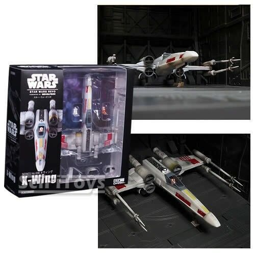 Official Star Wars Revo X-Wing with Luke & R2D2 Figure Toy Kaiyodo Xwing