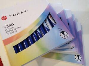 Blue Pack of 12 x Foray Vivid Felt Tip Pens