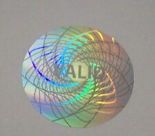 "100 High Security Hologram Label Tamper Proof 1.5"" Guilloche Sticker Seal"