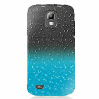 Blue Raindrop Transparent Case Cover For Samsung Galaxy S4 Active I9295