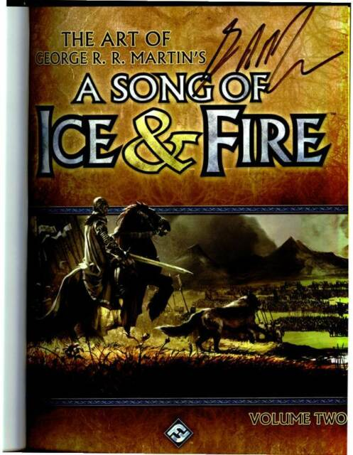 Game of Thrones George R. R. Martin signed Art Of A Song Of Ice & Fire HC book