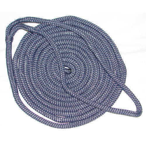 5//8 Inch x 20 Ft Navy Blue Double Braid Nylon Mooring and Docking Line for Boats