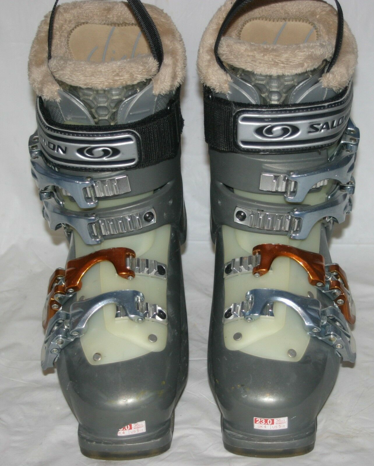 Salomon Performa 8 Alpine Downhill Ski Boots w Superfeet 23.0 (5 12 US Women)